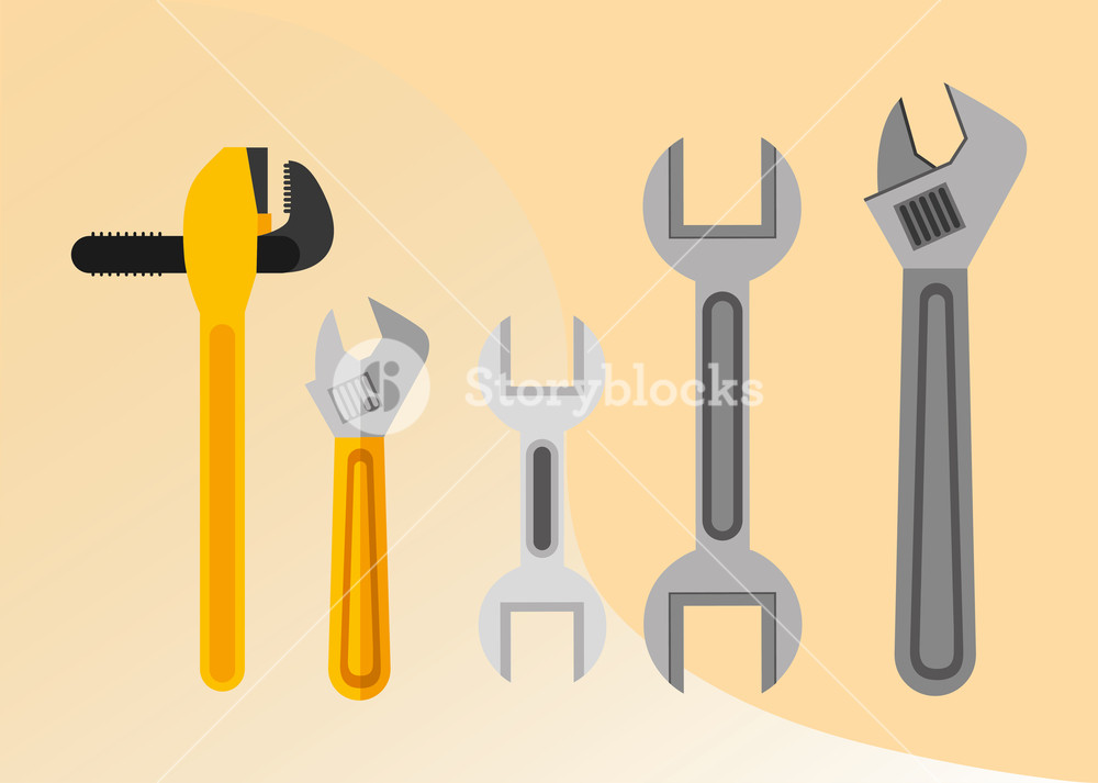 1000x713 Construction Plumber Tools Equipment Pipe Wrench Spanner