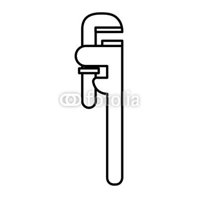 400x400 Plumbing Wrench Isolated Icon Vector Illustration Design Buy