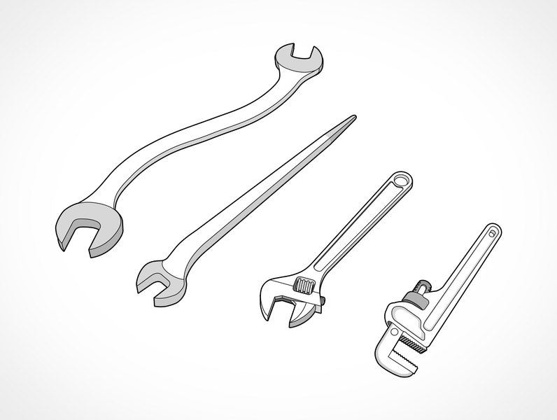 796x600 Free Download Of Wrench Set Vector Graphic