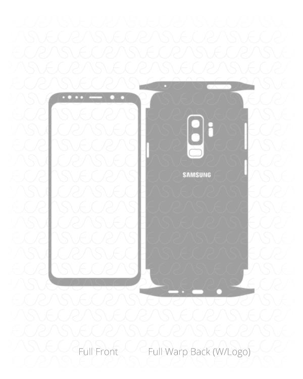 600x750 Samsung Galaxy S9 Plus Vector Vinyl Skin Cut File Template 2018
