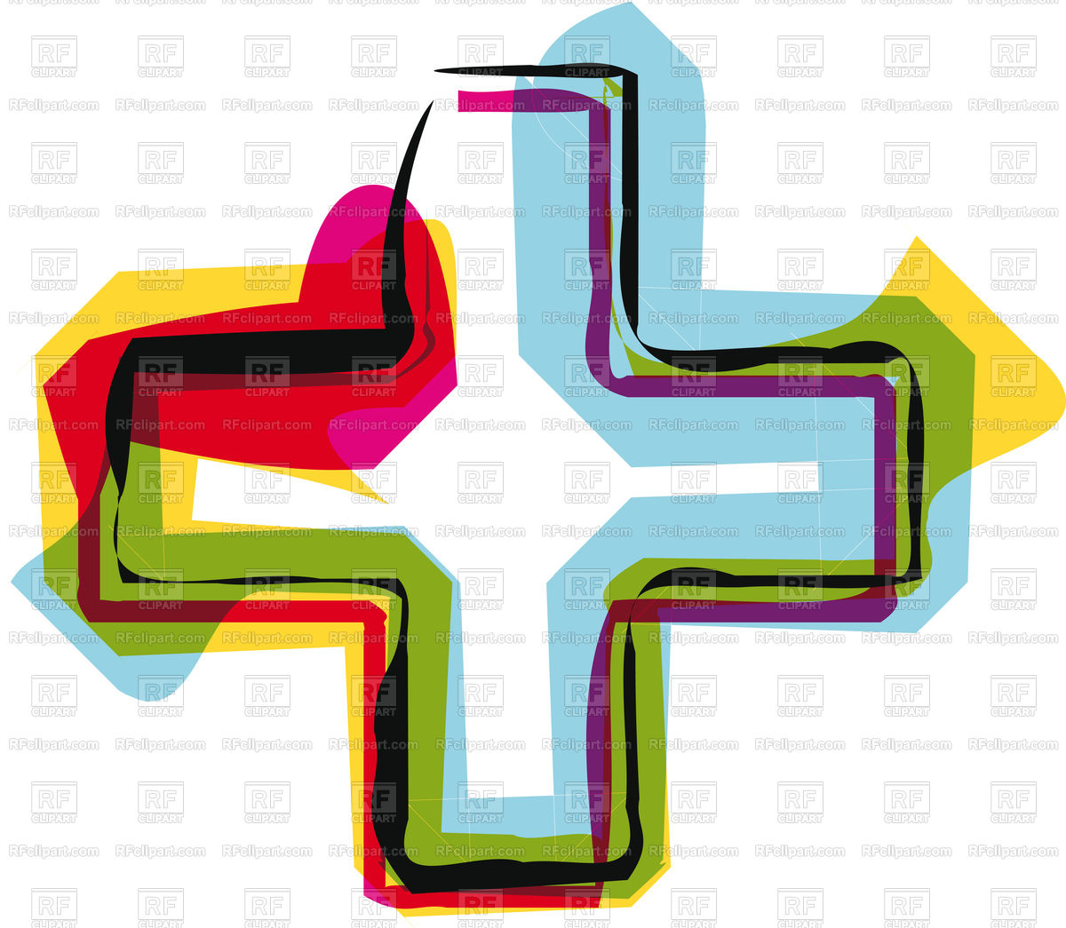1200x1045 Abstract Colorful Plus Symbol Vector Image Vector Artwork Of