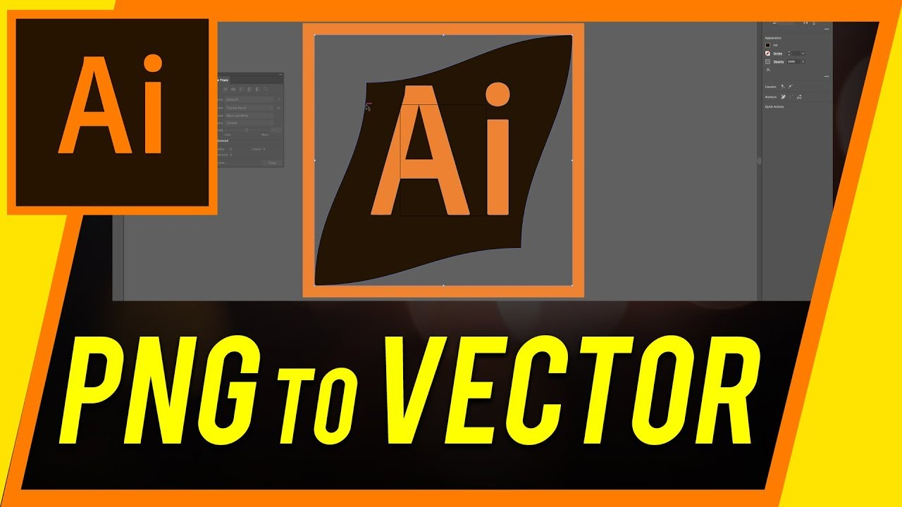 1280x720 How To Convert A Png To Vector With Illustrator