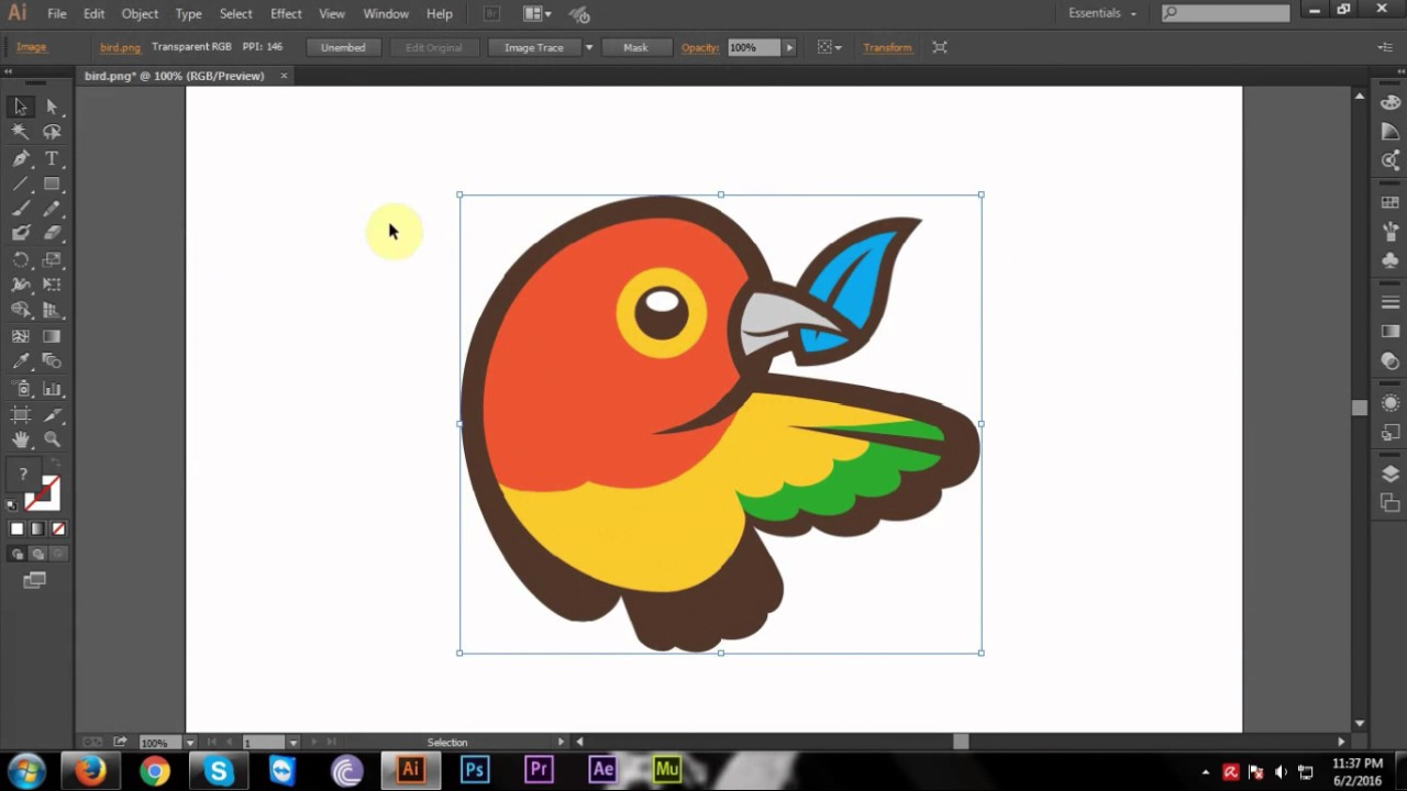 1280x720 How To Convert Jpg Or Png To Vector In Adobe Illustrator Cc