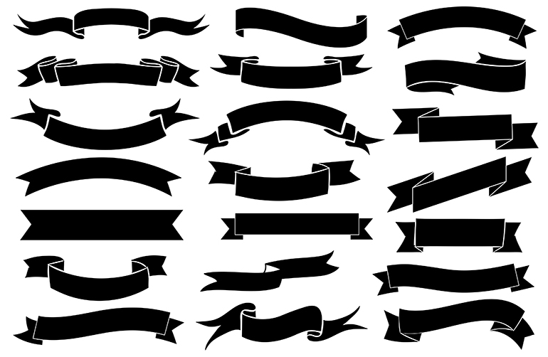 770x502 Free Vector And Png Ribbons Graphics