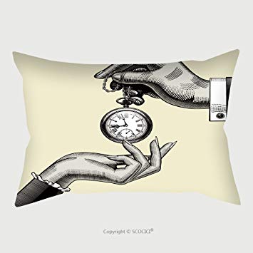 355x355 Custom Satin Pillowcase Protector Hands Of Man And