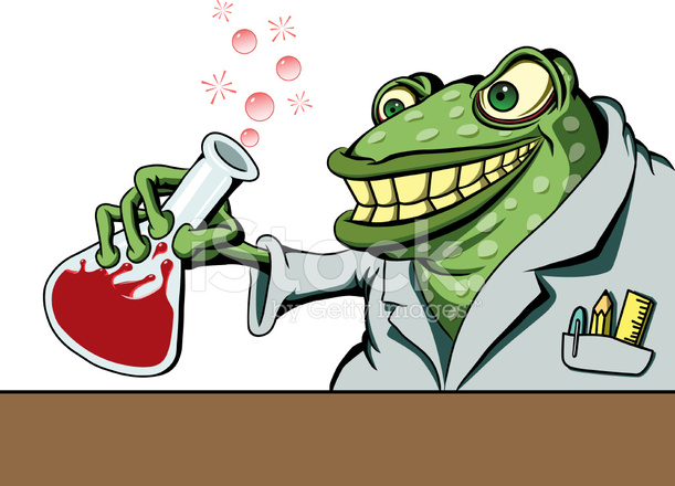 611x440 Frog Mad Scientist With Prince Potion Stock Vector