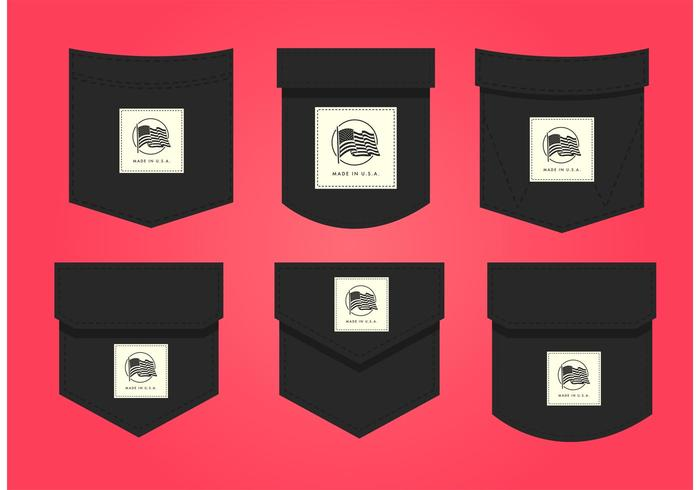 700x490 Made In Usa Pocket Label Vectors