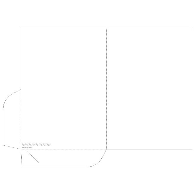 660x660 Pocket Folder Vector Template