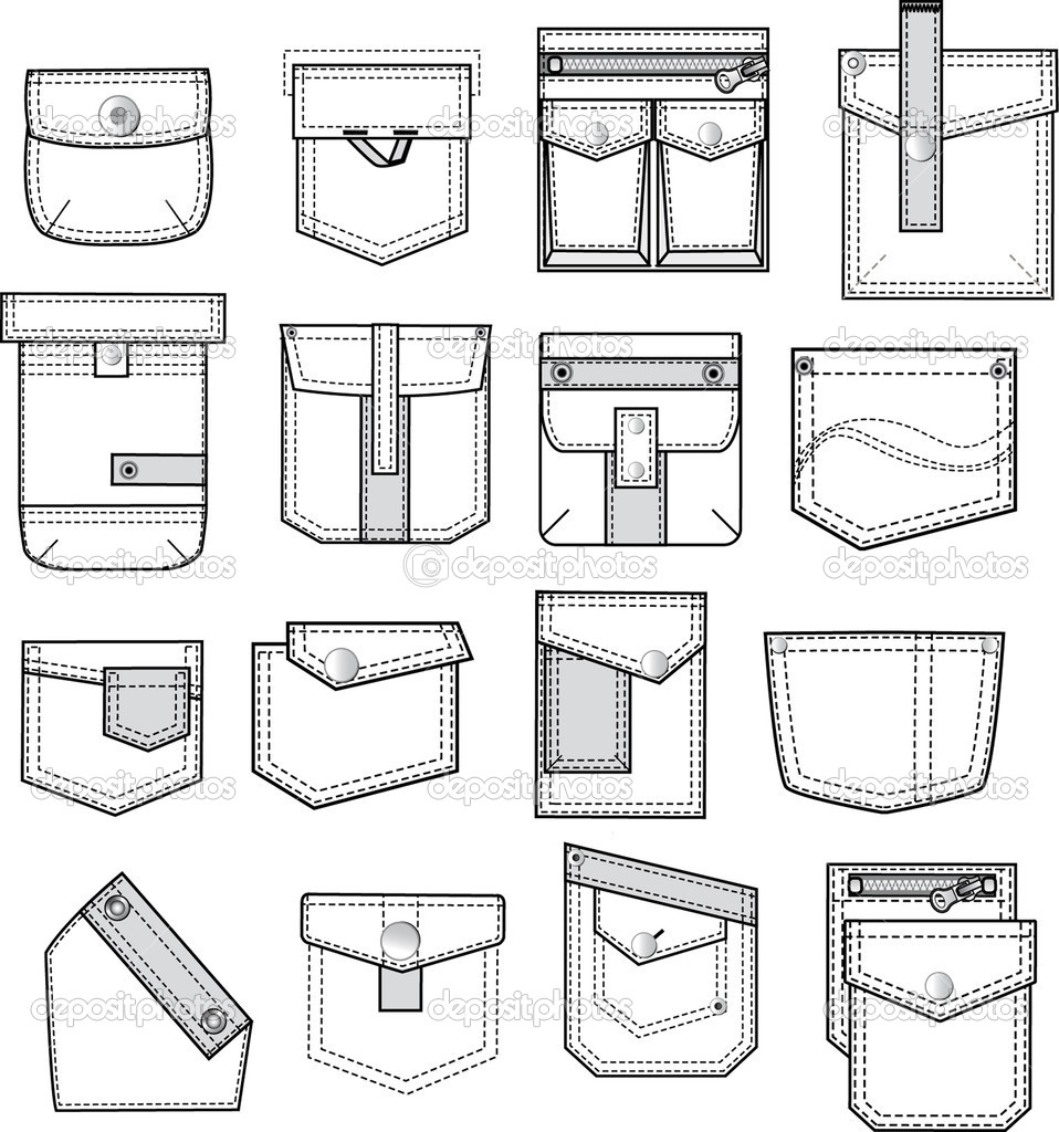 958x1024 Collection Of Pocket Technical Drawing High Quality, Free