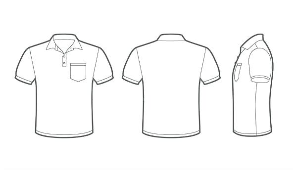 600x350 T Shirt With Pocket Template Vector Best