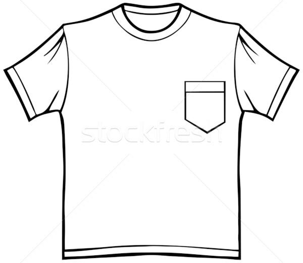 600x520 T Shirt With Pocket Vector Illustration John Takai