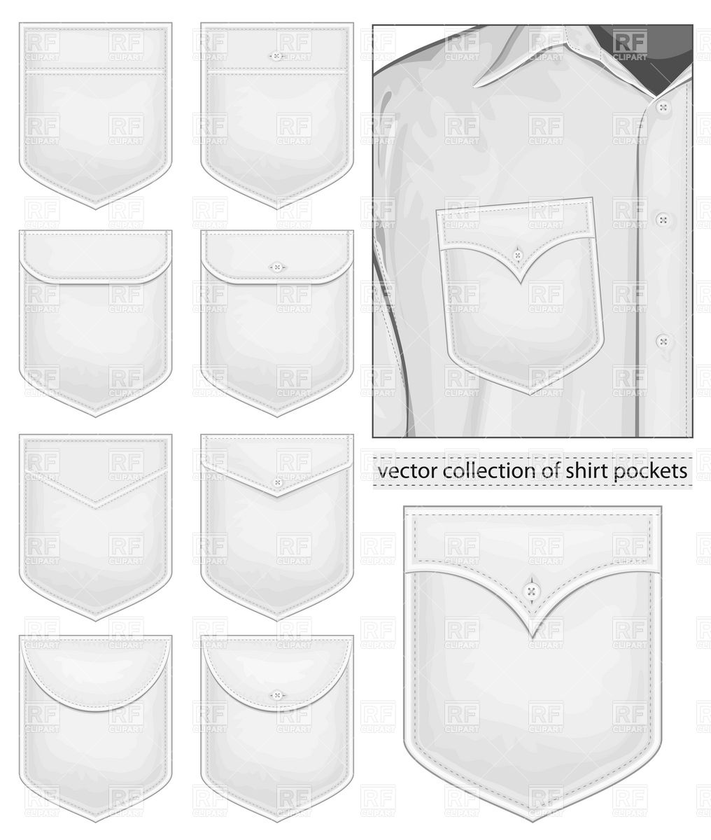 1016x1200 Collection Of Shirt Pockets Vector Image Vector Artwork Of