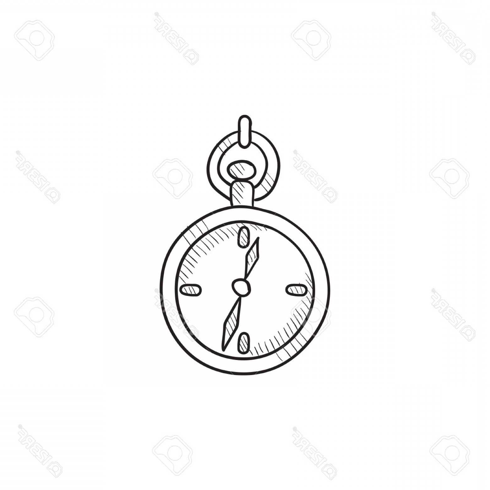 1560x1560 Photostock Vector Pocket Watch Sketch Icon For Web Mobile And