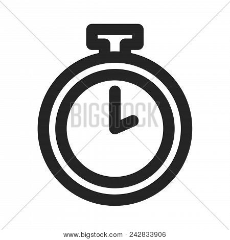 450x470 Pocket Watch Icon Simple Vector Sign And Modern Symbol. Pocket