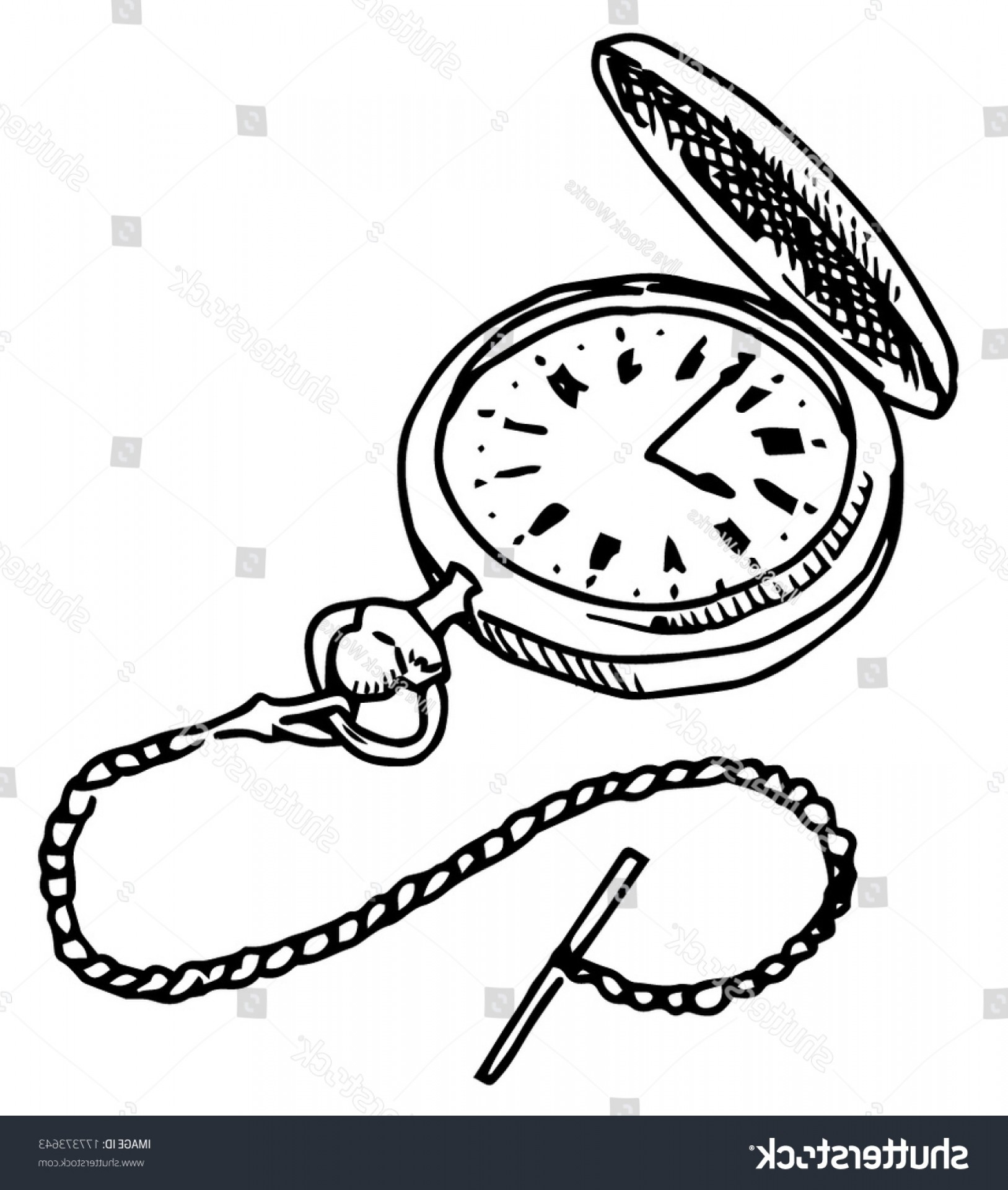 1627x1920 Pocket Watch Vector Drawing On White Lazttweet