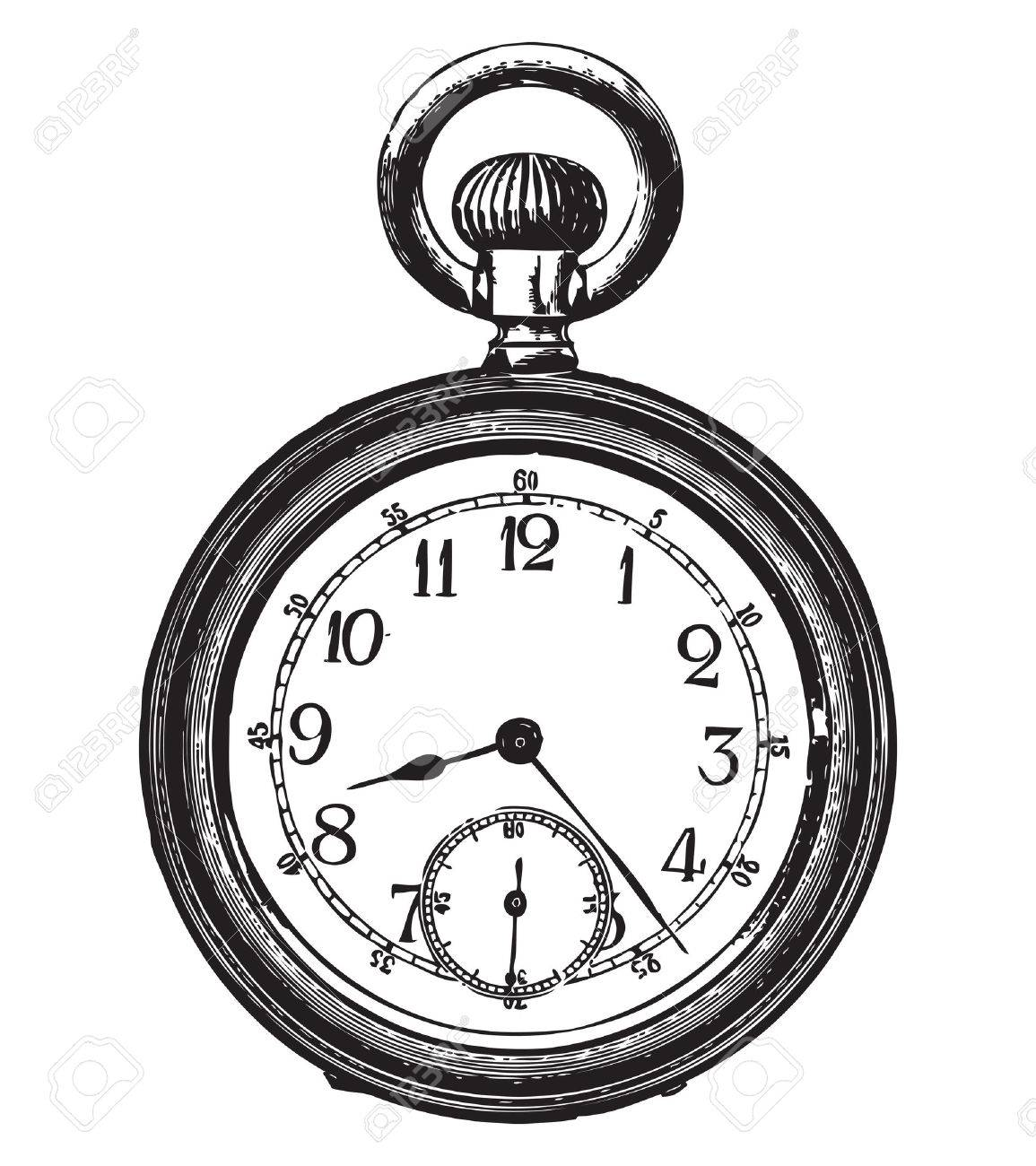 1155x1300 Collection Of Old Pocket Watch Clipart High Quality, Free