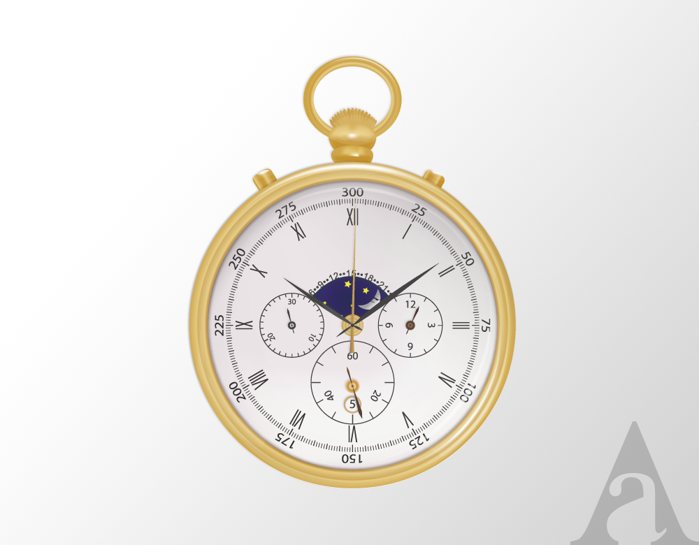 1000x780 Pocket Watch Vector On Behance