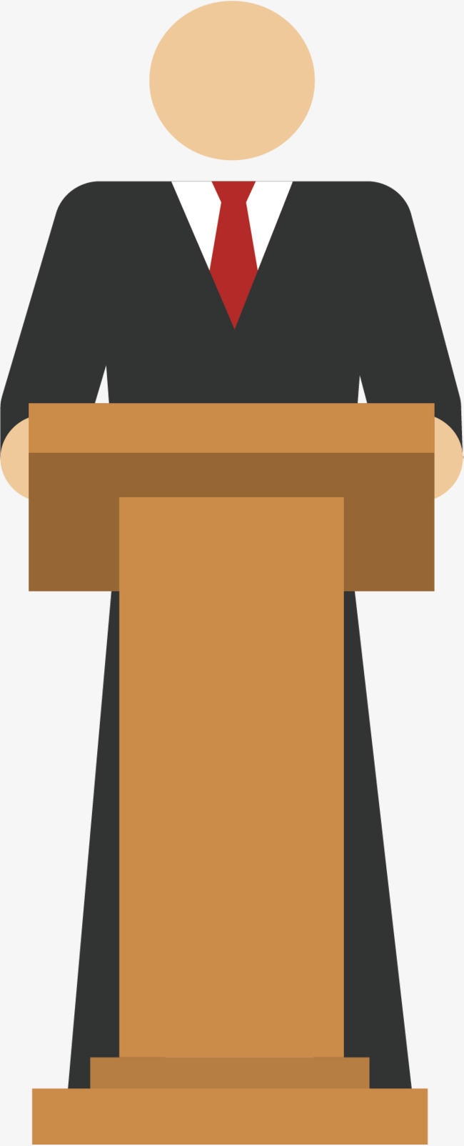 650x1604 Speak On The Podium, Vector Material, Speech, Make A Report Png