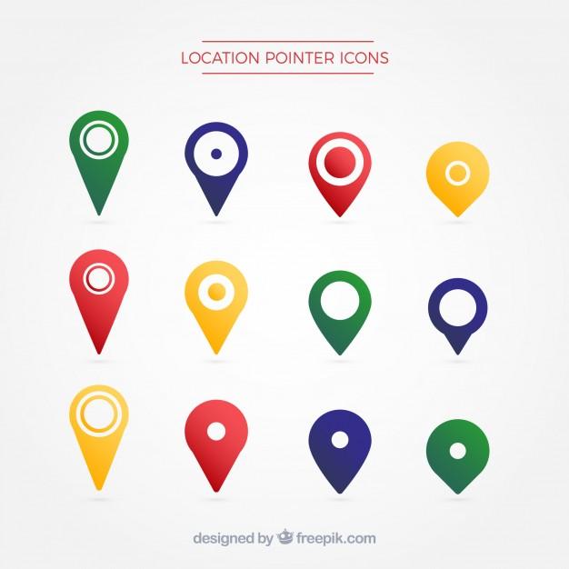 626x626 Location Pointer Symbol Vector Free Download