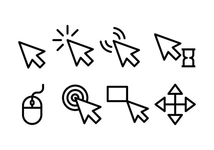 700x490 Mouse Pointer Vector Icons