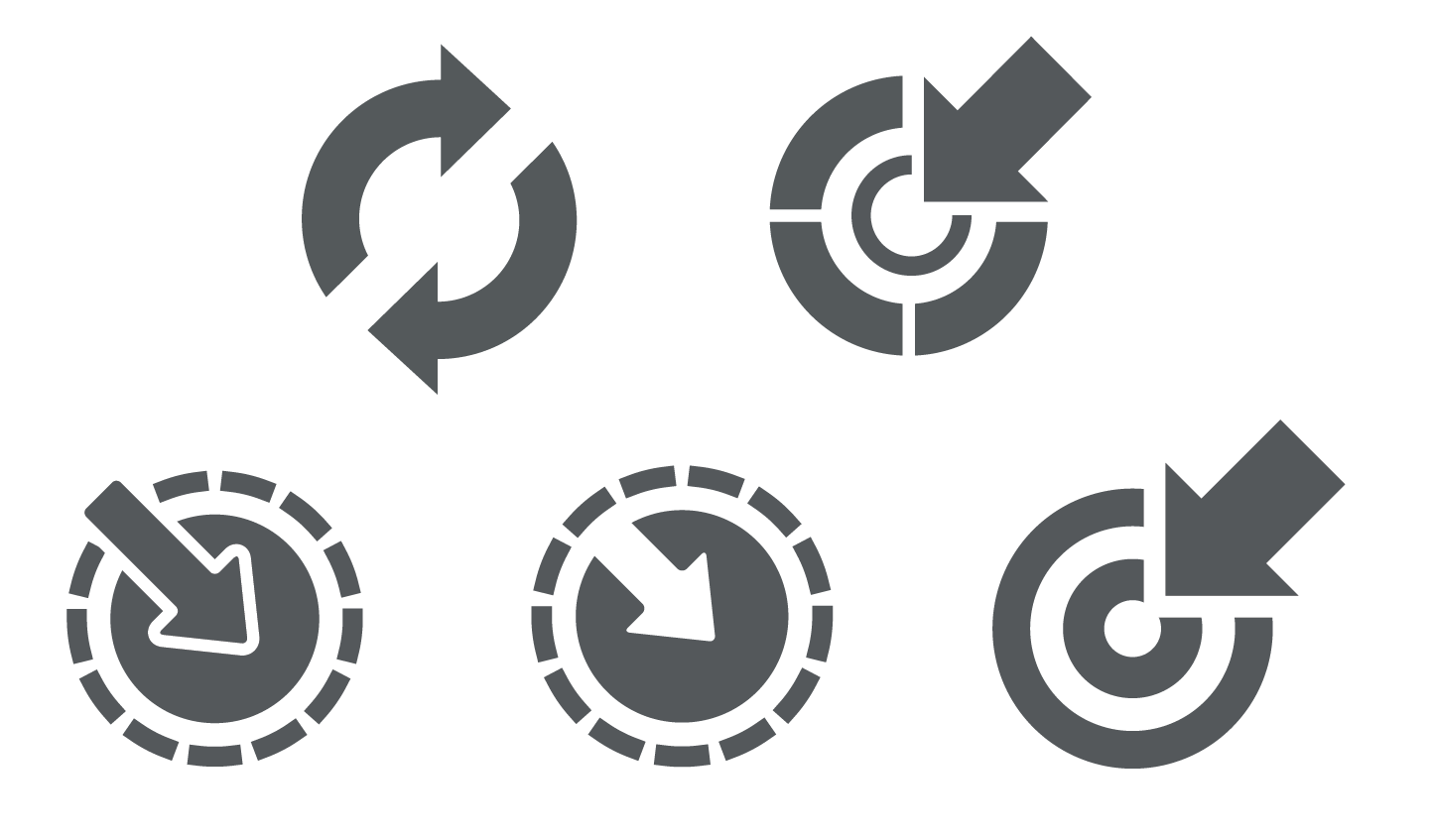 1443x847 Vector Pointer Icons With Arrows Trashedgraphics