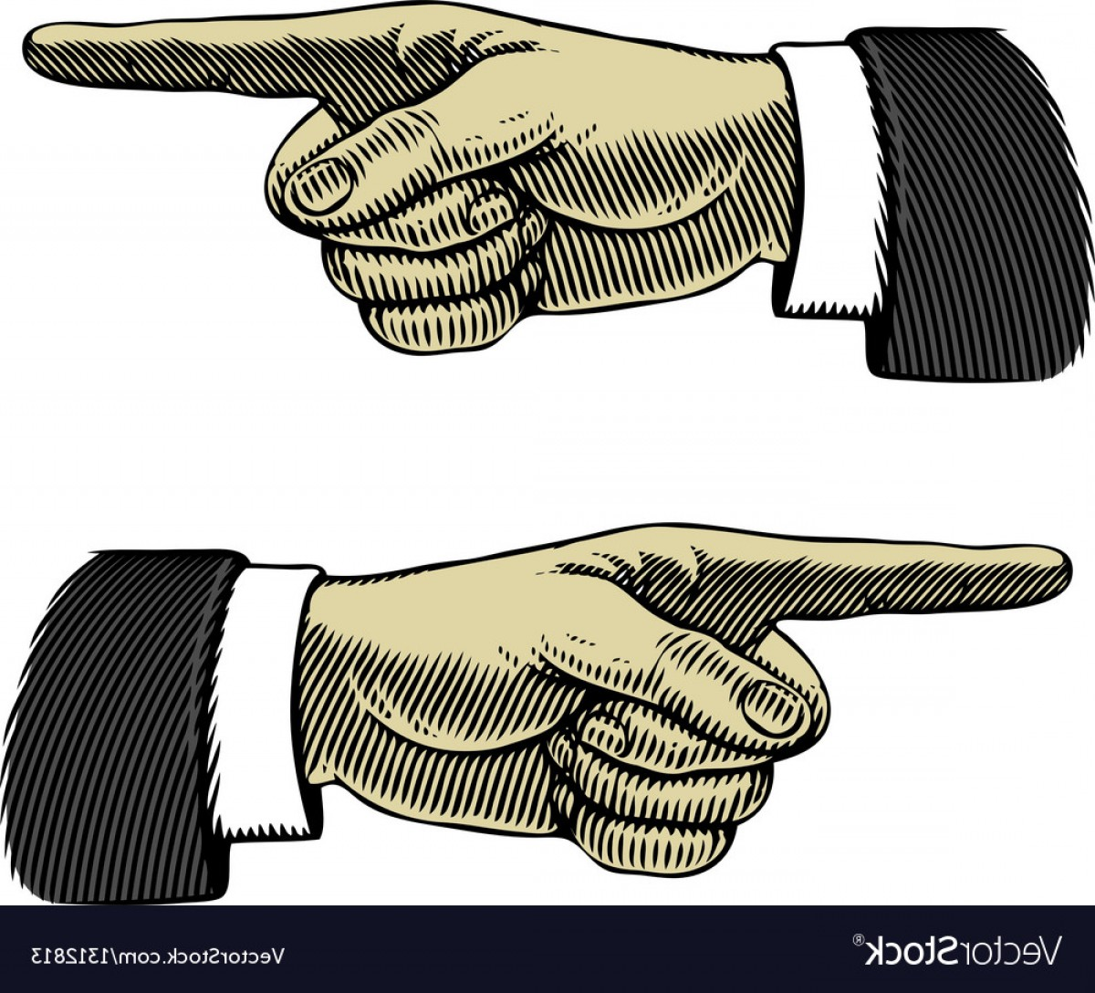 1200x1088 Hand With Pointing Finger Left And Right Vector Sohadacouri