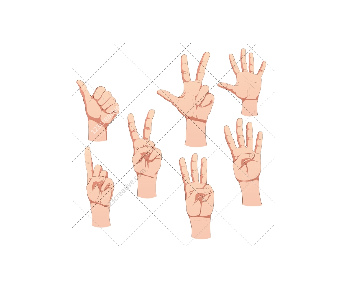 1200x1000 Hand Vector Pack