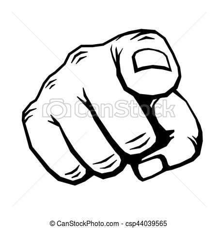 450x470 Hand With Finger Pointing Vector Illustration. Choosing Gesture
