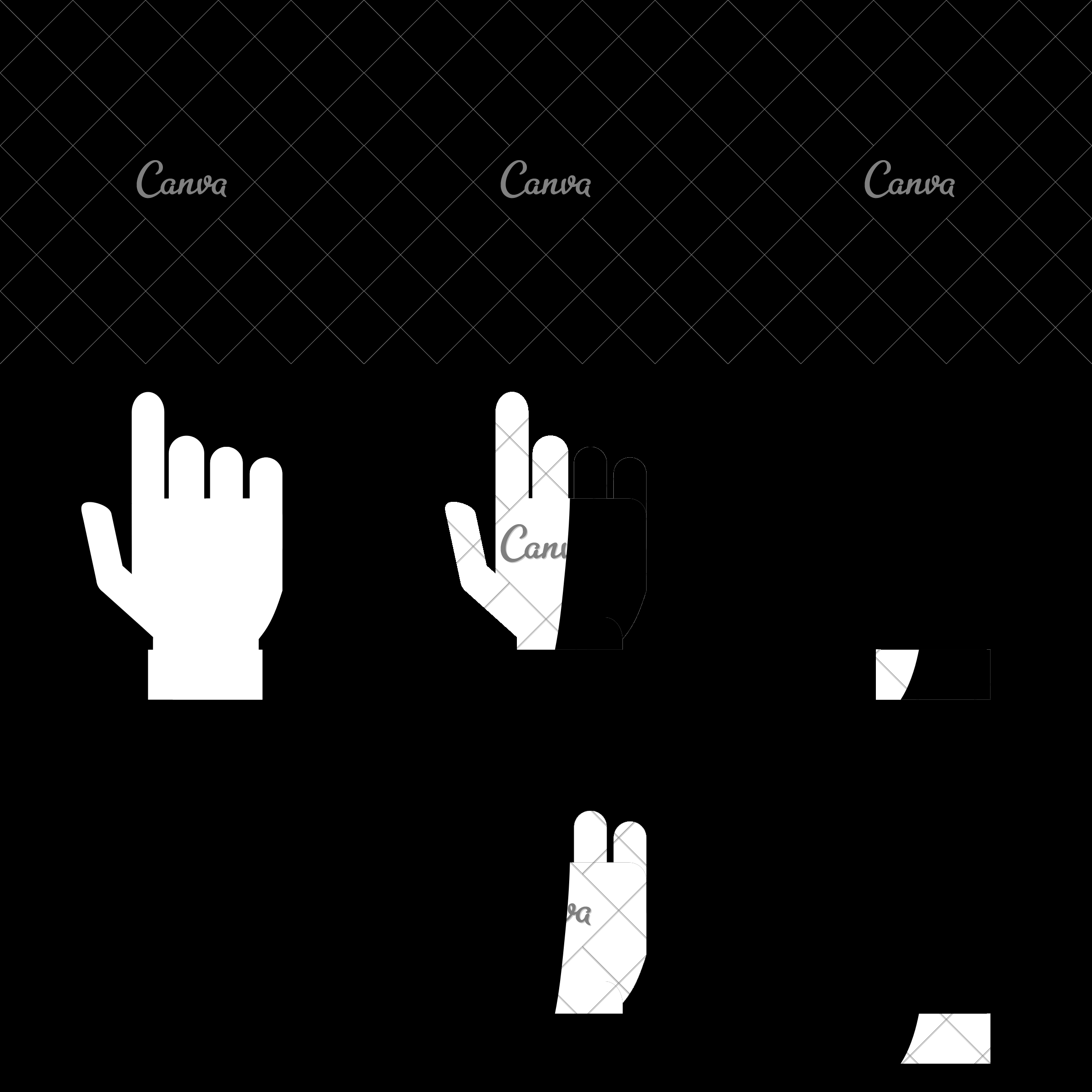 2400x2400 Pointing Hand Vector