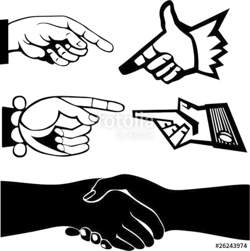 498x500 Pointing Hand Vector Stock Image And Royalty Free Vector Files On