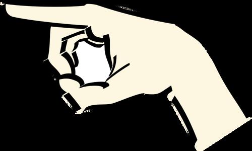 500x300 Pointing Hand Vector Image Public Domain Vectors