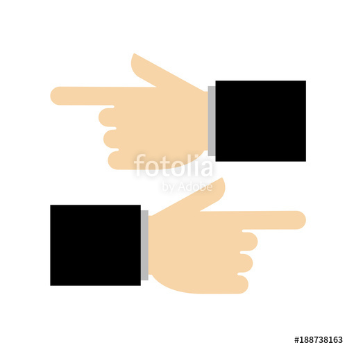 500x500 Pointing Hand. Vector Illustration Stock Image And Royalty Free