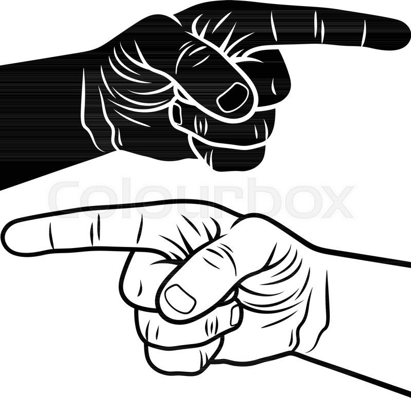 800x775 Pointing Hand. Vector Illustration Of A Pointing Finger. Hand