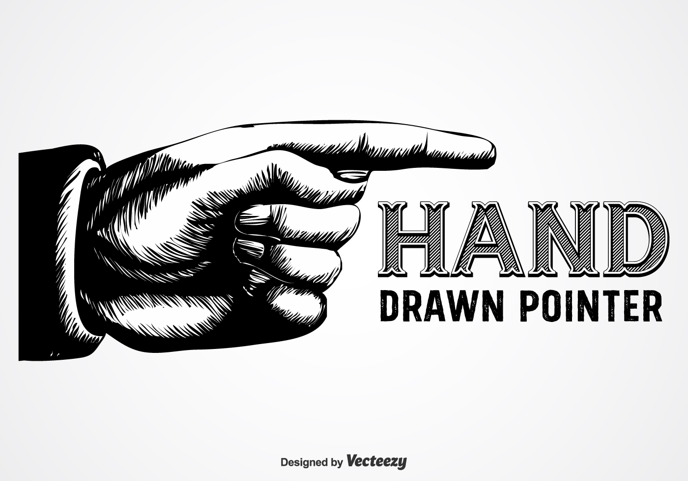 1400x980 Finger Point Free Vector Art