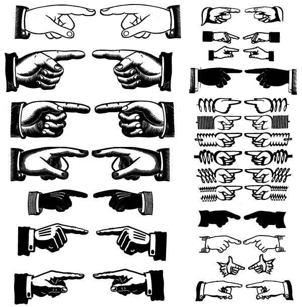 600x610 Free Free Pointing Hands Vector Art Psd Files, Vectors Amp Graphics