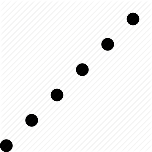 512x512 Dots, Dotted, Line, Points, Vector Line Icon