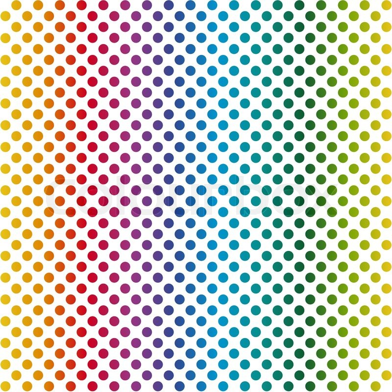 800x800 Endless Colorful Background Points Stock Vector Colourbox