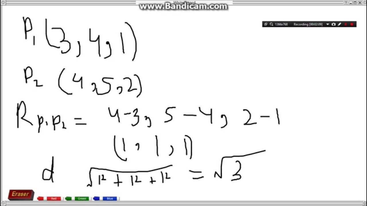 1280x720 How To Find The Position Vector Of Two Poins How To Find The