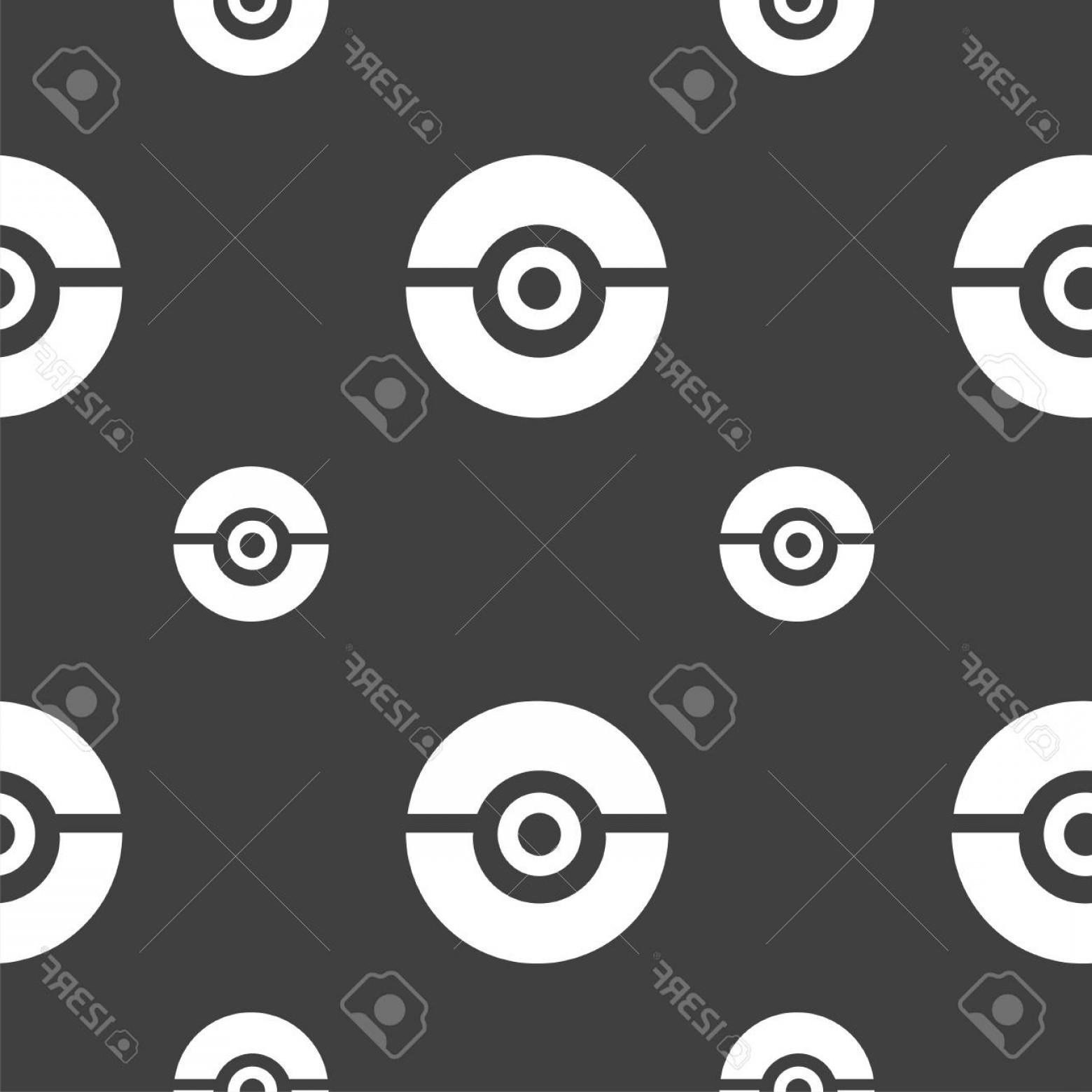 1560x1560 Photostock Vector Pokeball Icon Sign Seamless Pattern On A Gray