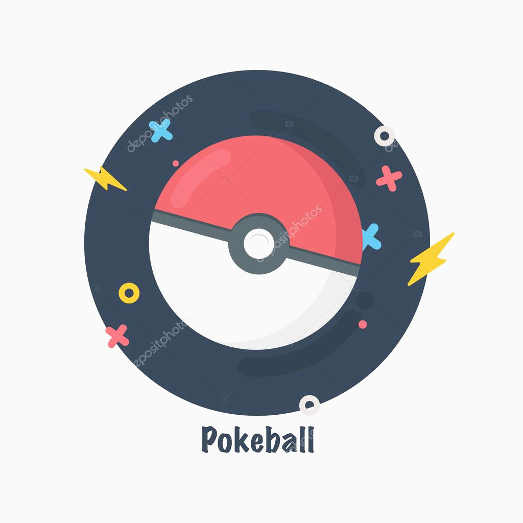 1024x1024 Pokeball Vector Unique Pokeball Icon Game Ball For Play Flat