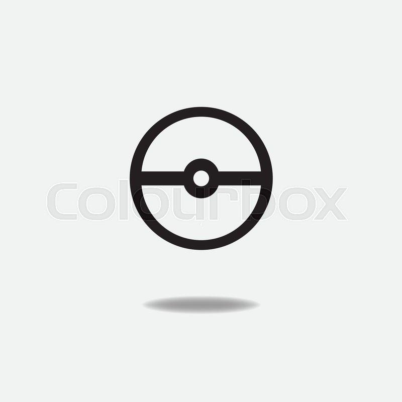 800x800 Pokemon Ball Isolated On Grey Background. Pokeball Flat