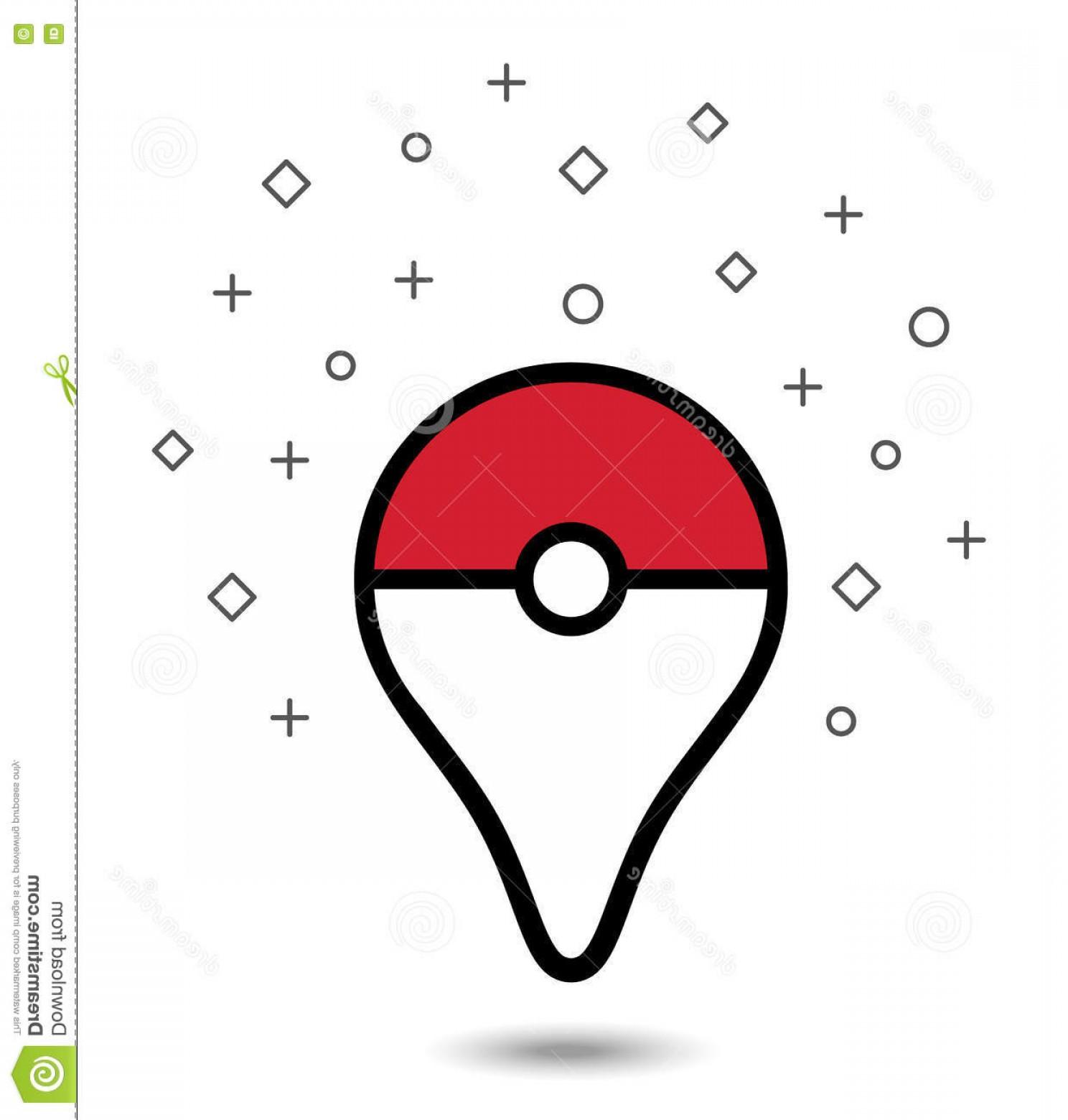 1488x1560 Editorial Stock Photo Vector Pokemon Ball Gray Vignette Background