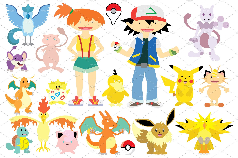 2900x1929 Pokemon Go Clipart Vector Set Shopatcloth