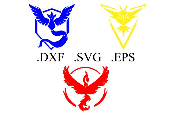 570x380 Pokemon Go Team Logo Vector Cut File Dxf Svg Eps Etsy