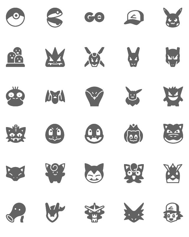 640x800 Free Pokemon Go Icons