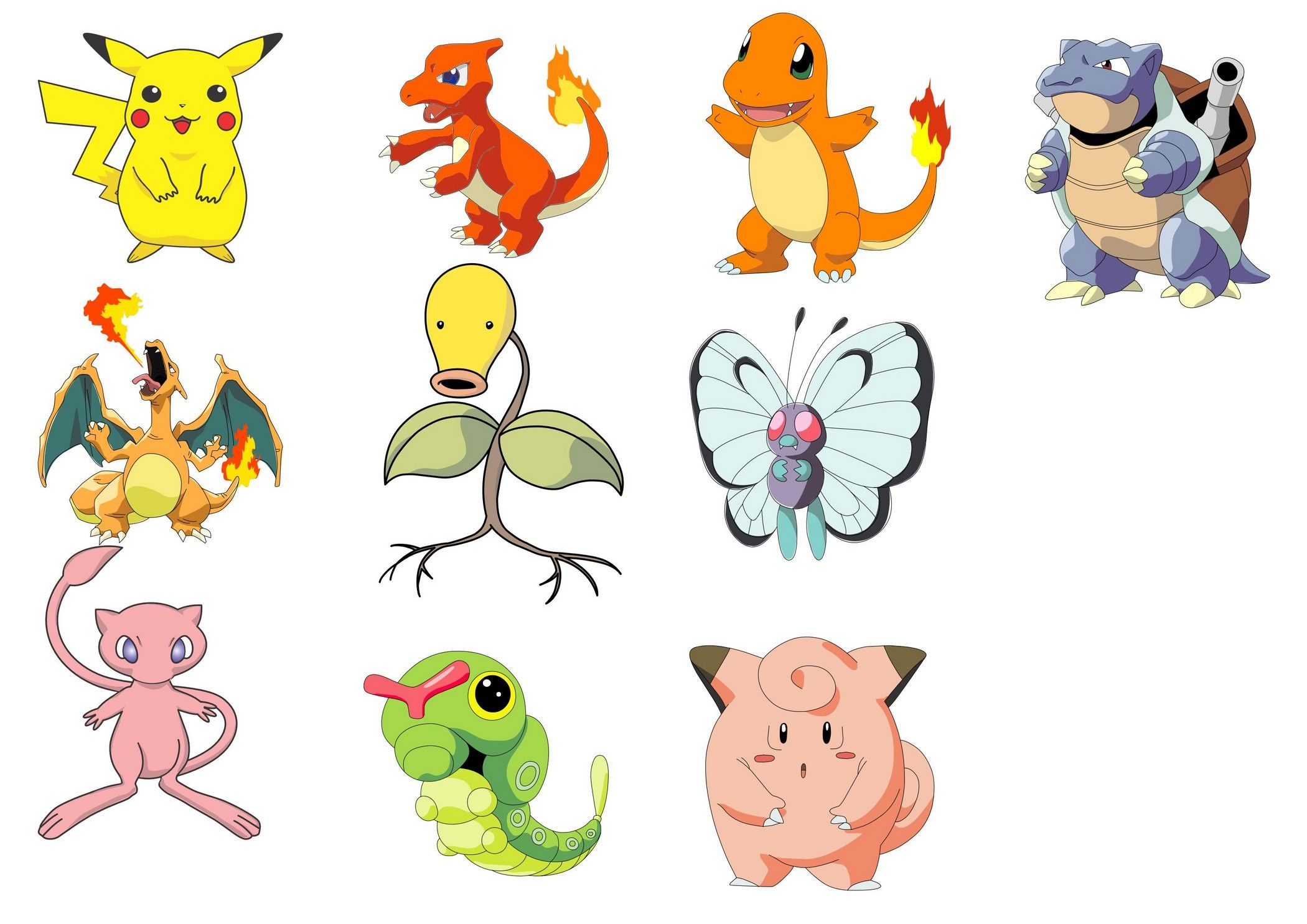 2100x1485 Pokemon Characters Vector [Eps File] Vector Eps Free Download