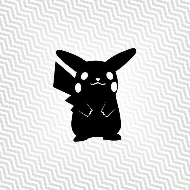 642x642 Pikachu Pokemon Outline Cutout Vector Art Cricut Etsy