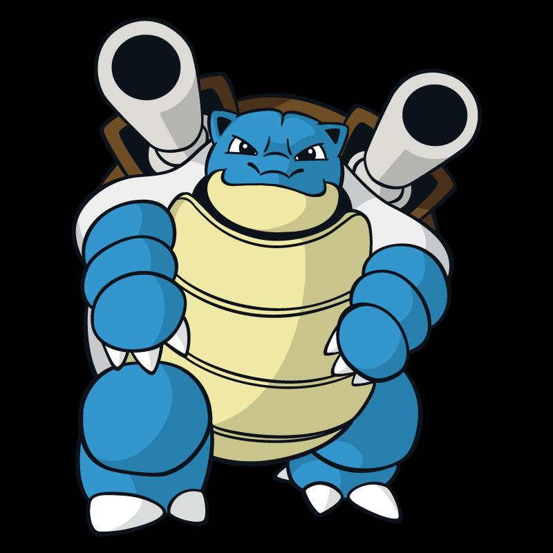 800x800 Blastoise Pokemon Character Vector Art Free Vector Silhouette