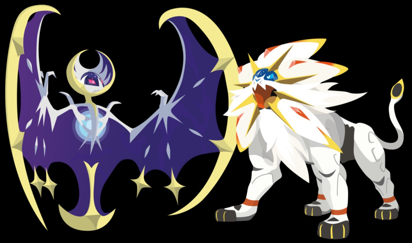 1396x824 Pokemon Sun And Moon Legendaries Vector Art Shopatcloth