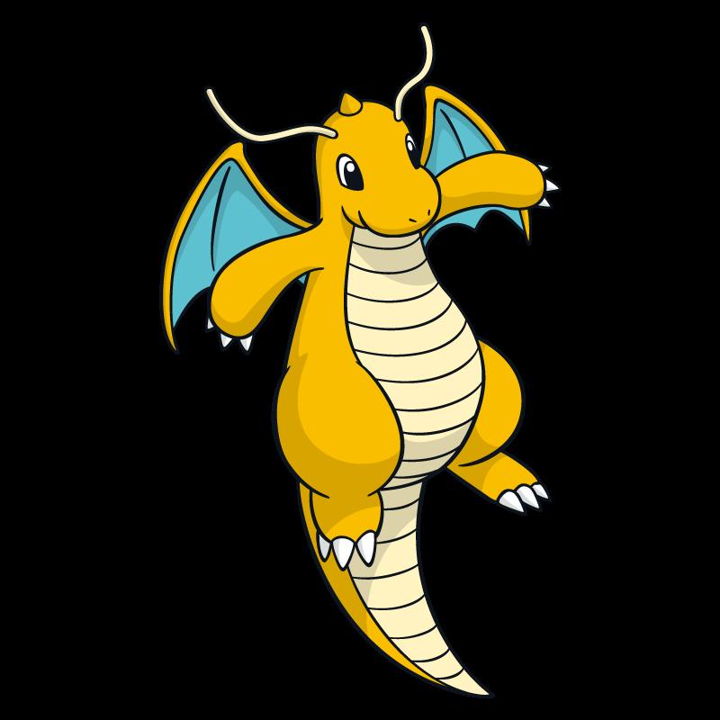 800x800 Dragonite Pokemon Character Vector Art Free Vector Silhouette